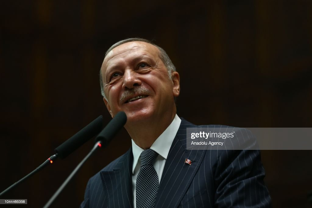 Turkish President and leader of Turkey's ruling Justice ...
