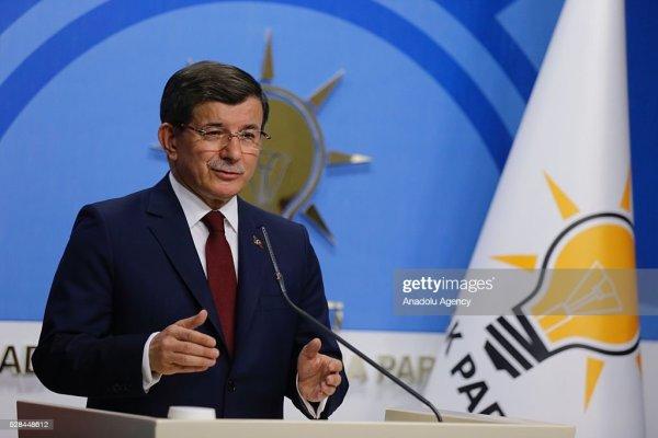 Turkish Prime Minister Ahmet Davutoglu Announces ...