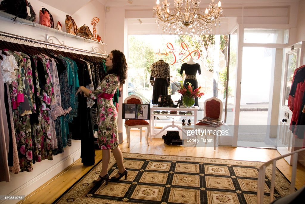 Womens Fashion Store Interior Paddington Stock Photo