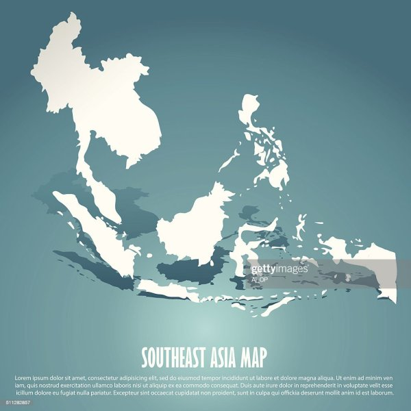 Abstract Southeast Asia Map Vector Art   Thinkstock abstract southeast asia map   Vector Art