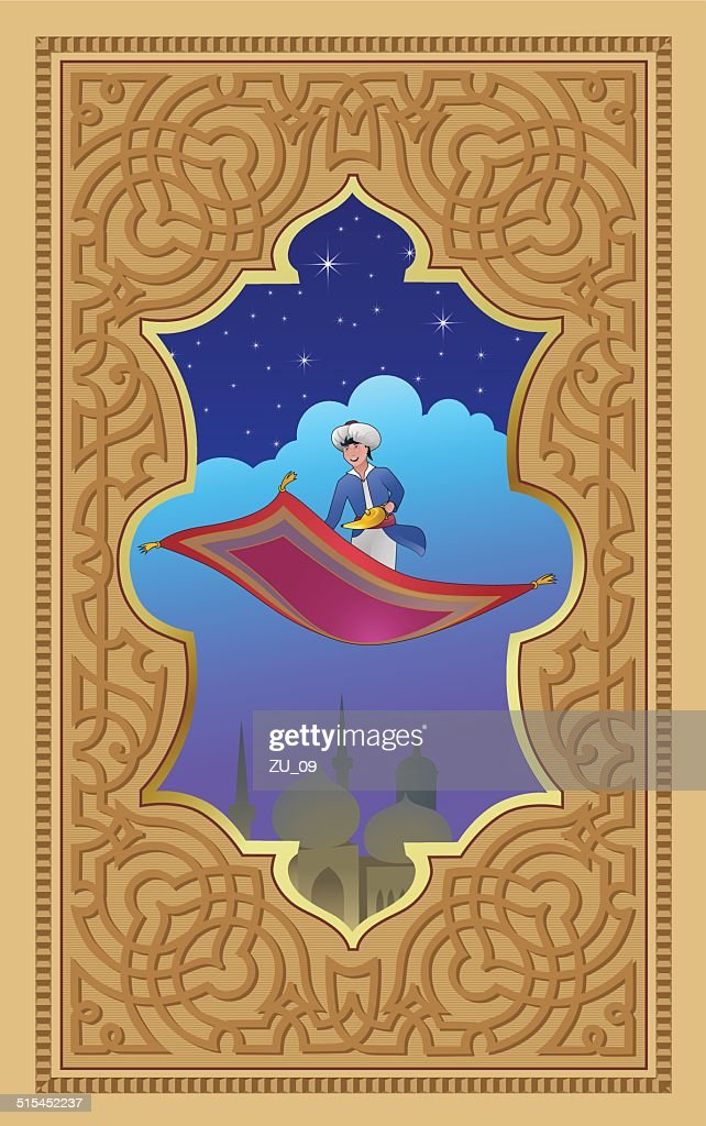 https www gettyimages ch detail illustration aladdin with the magic lamp on a flying carpet lizenfreie illustration 515452237 language fr