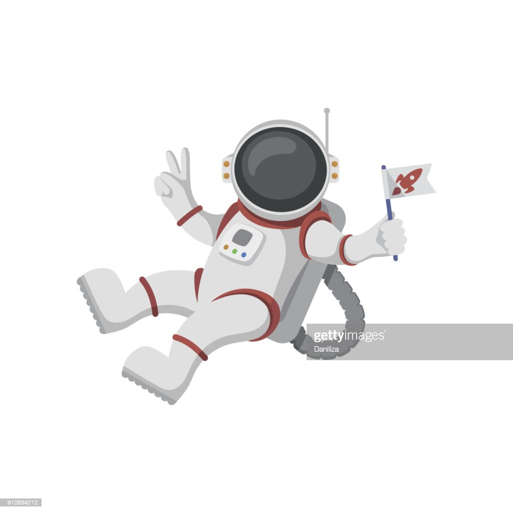 Free Astronaut floating in outer space Clipart and Vector