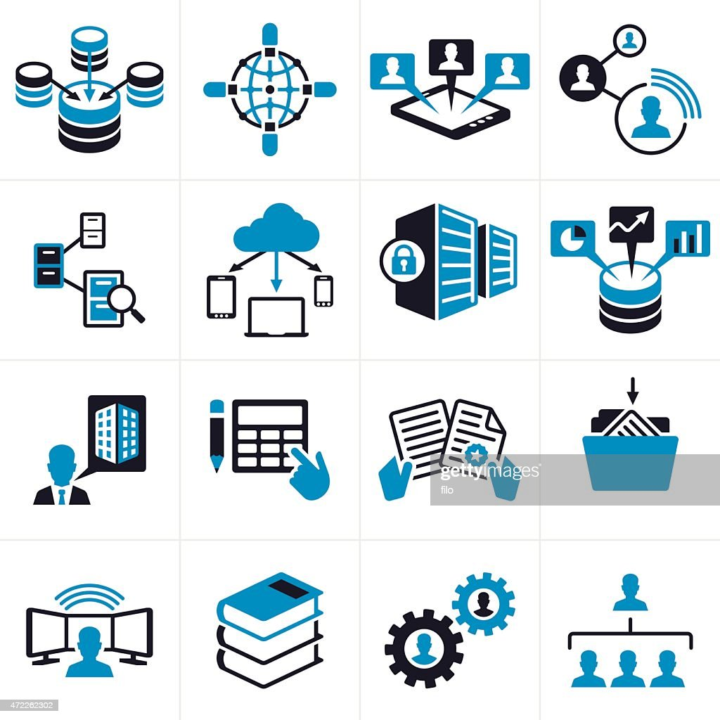 Business Technology Icons And Symbols High Res Vector