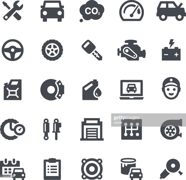 Car Service Icons High-Res Vector Graphic - Getty Images