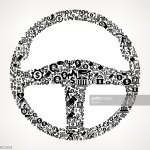 Car Steering Wheel Money And Finance Black And White Icon Background High Res Vector Graphic Getty Images