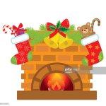 Weihnachten Kamin Vektorillustration Stock Illustration Getty Images