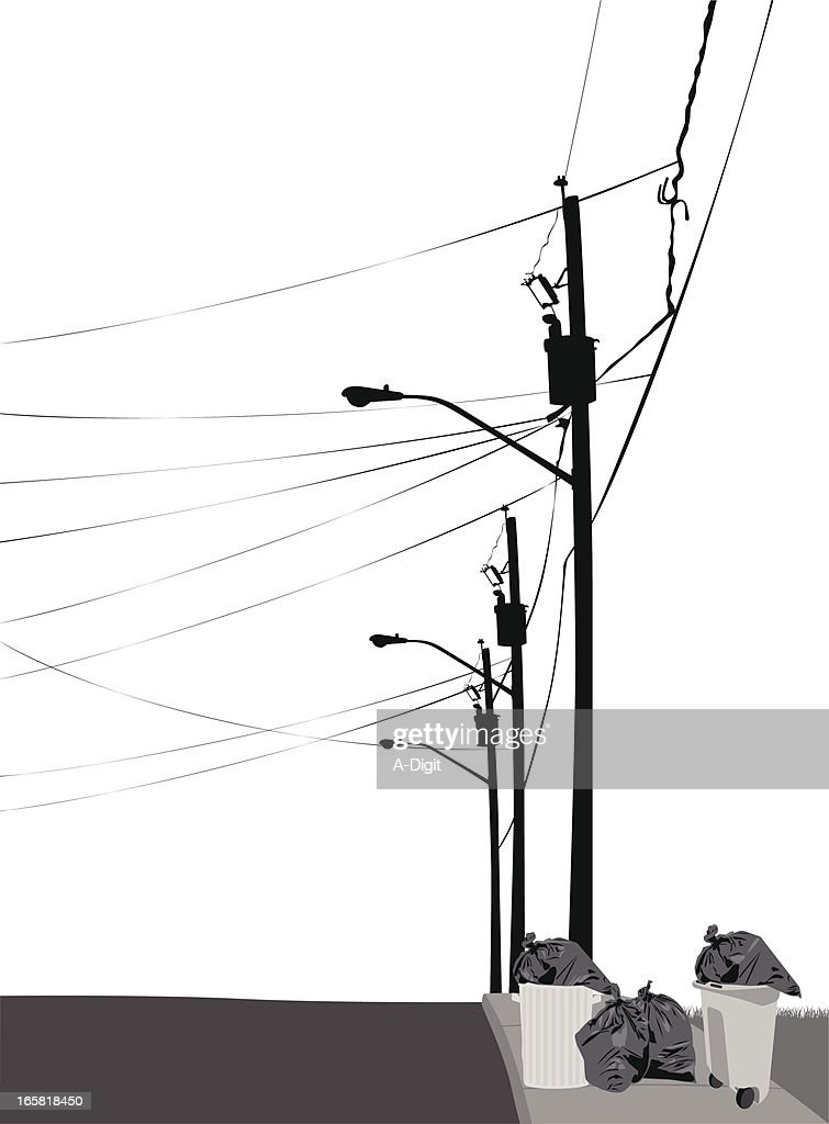 Telephone Pole Stock Illustrations And Cartoons | Getty Images