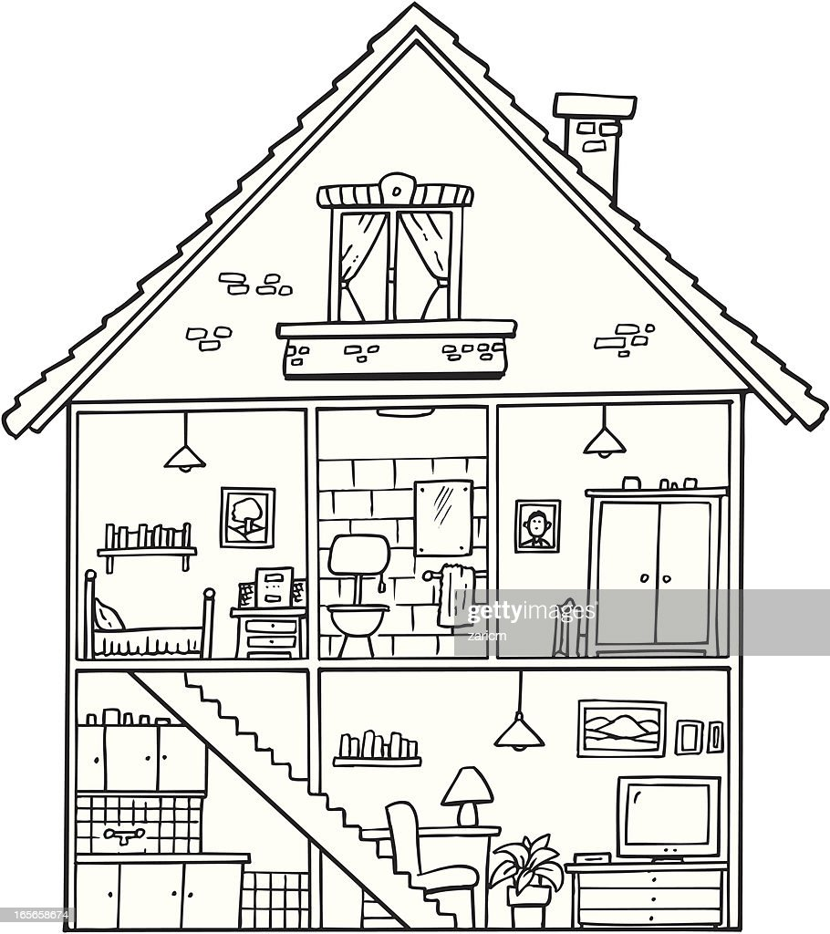 House interior vector art getty images rh gettyimages co uk interior house diagram anime house inside