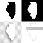 Illinois Maps For Design Blank White And Black Backgrounds High Res Vector Graphic Getty Images