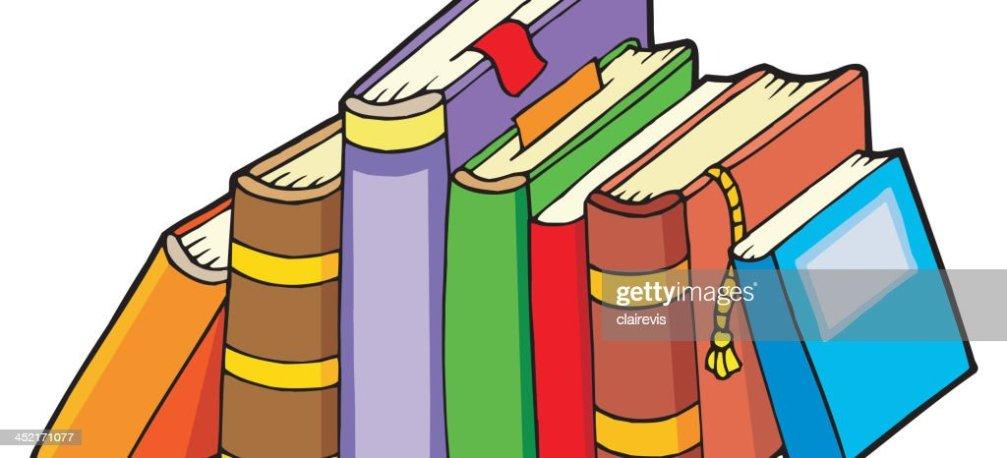 Línea De Varias Libros Arte Vectorial