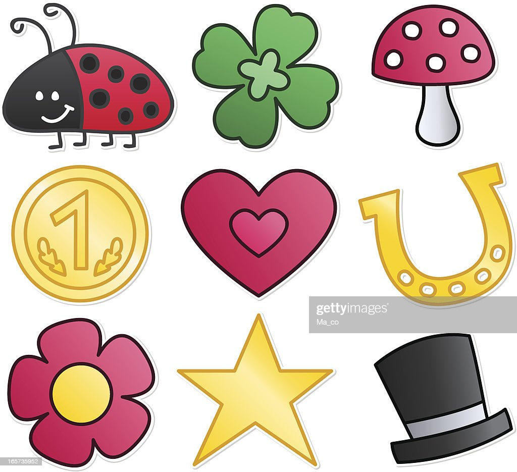Lucky Charm Symbols Vector Art | Getty Images