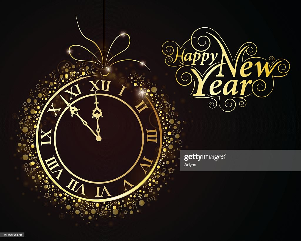 New Year Clock Vector Art   Getty Images New Year Clock   Vector Art