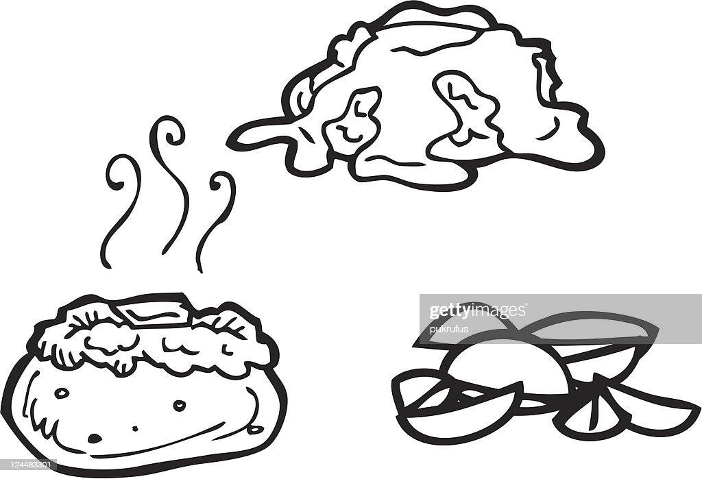 Baked Potato Stock Illustrations And Cartoons