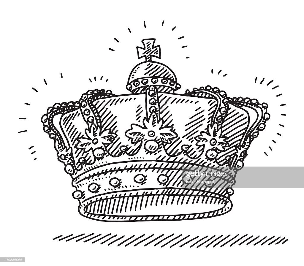Royal Kings Crown Drawing Vector Art Getty Images