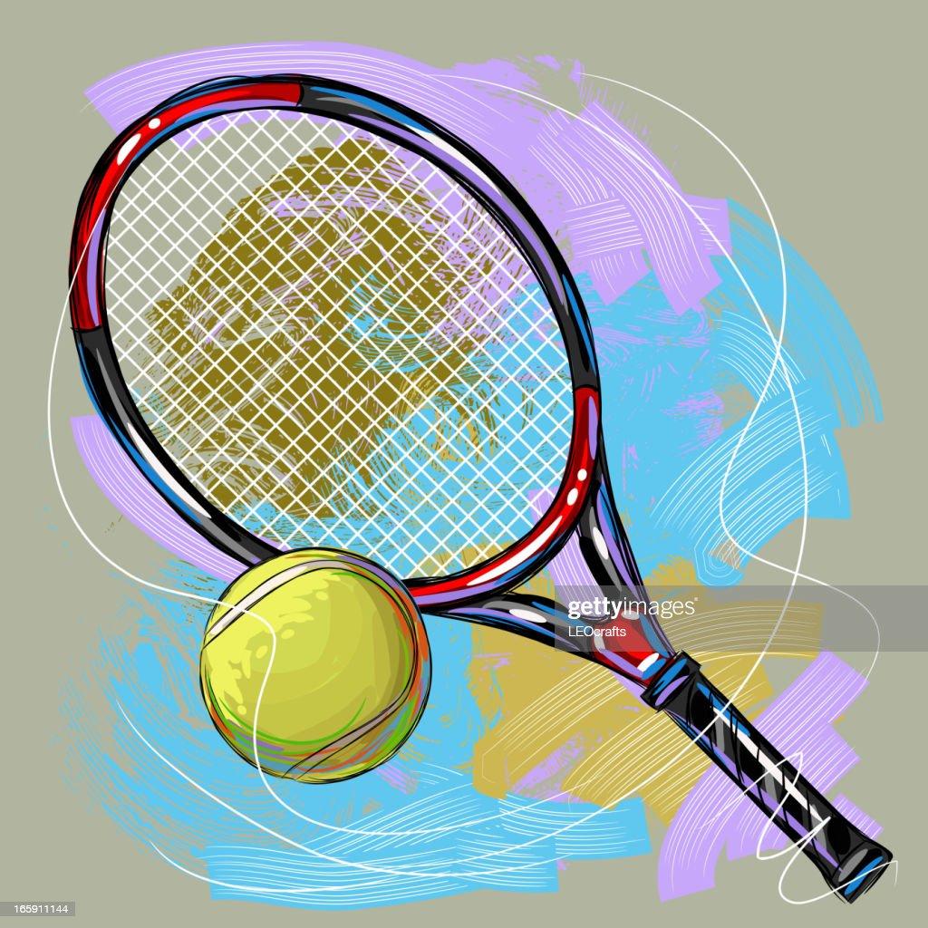 Illustrations Et Dessins Anims De Raquette De Tennis