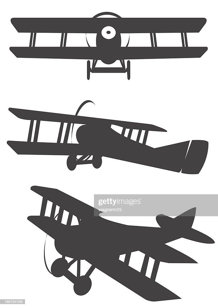 Desenho de avião para colorir. 267 Ilustracoes De Aviao Biplano Getty Images