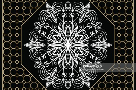 Vector Illustration Pattern With Floral Mandala Decorative Border     vector illustration  pattern with floral mandala  decorative border  design  for print fabric
