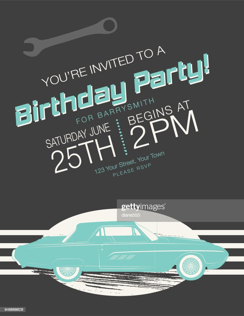 https www gettyimages com detail illustration vintage card birthday party invitation royalty free illustration 946868626