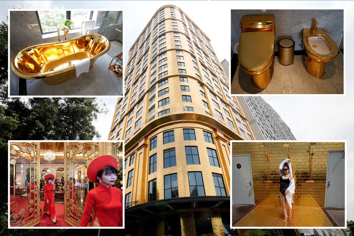 Vietnam's first gold-plated hotel opens in Hanoi