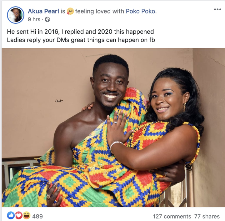 He Sent Hi On Facebook In 2016, I Replied And This Happened – Lady Shares Her Love Story (PHOTO) 2