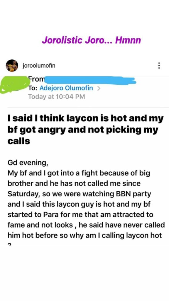 """#BBNAIJA: """"My Boyfriend Got Angry And Stopped Talking To Me After I Said Laycon Is Hot""""-Lady Cries Out"""