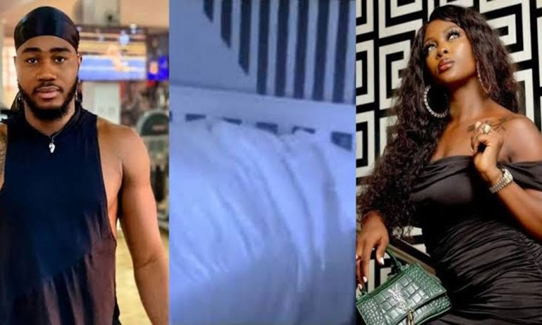 #BBNAIJA: Ka3na And I Only Cuddled And Kissed Aggressively - Praise Claims But Fans Don't Believe Him