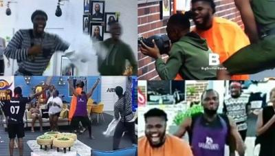 BBNaija: Watch As Housemates React After Big Brother Announced Return From Vacation