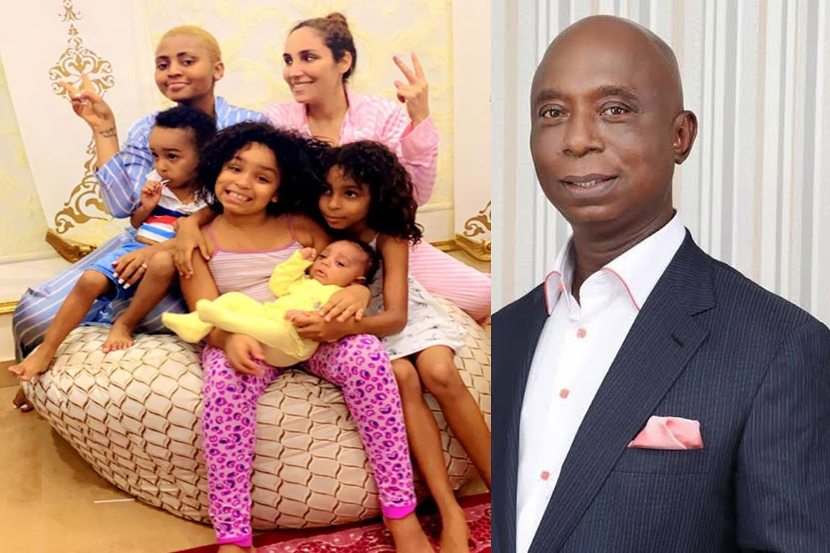 Fan Tells Ned Nwoko To Post A Photo Of Chika Ike After He Shared A Photo His Wives And Children - GH Gossip