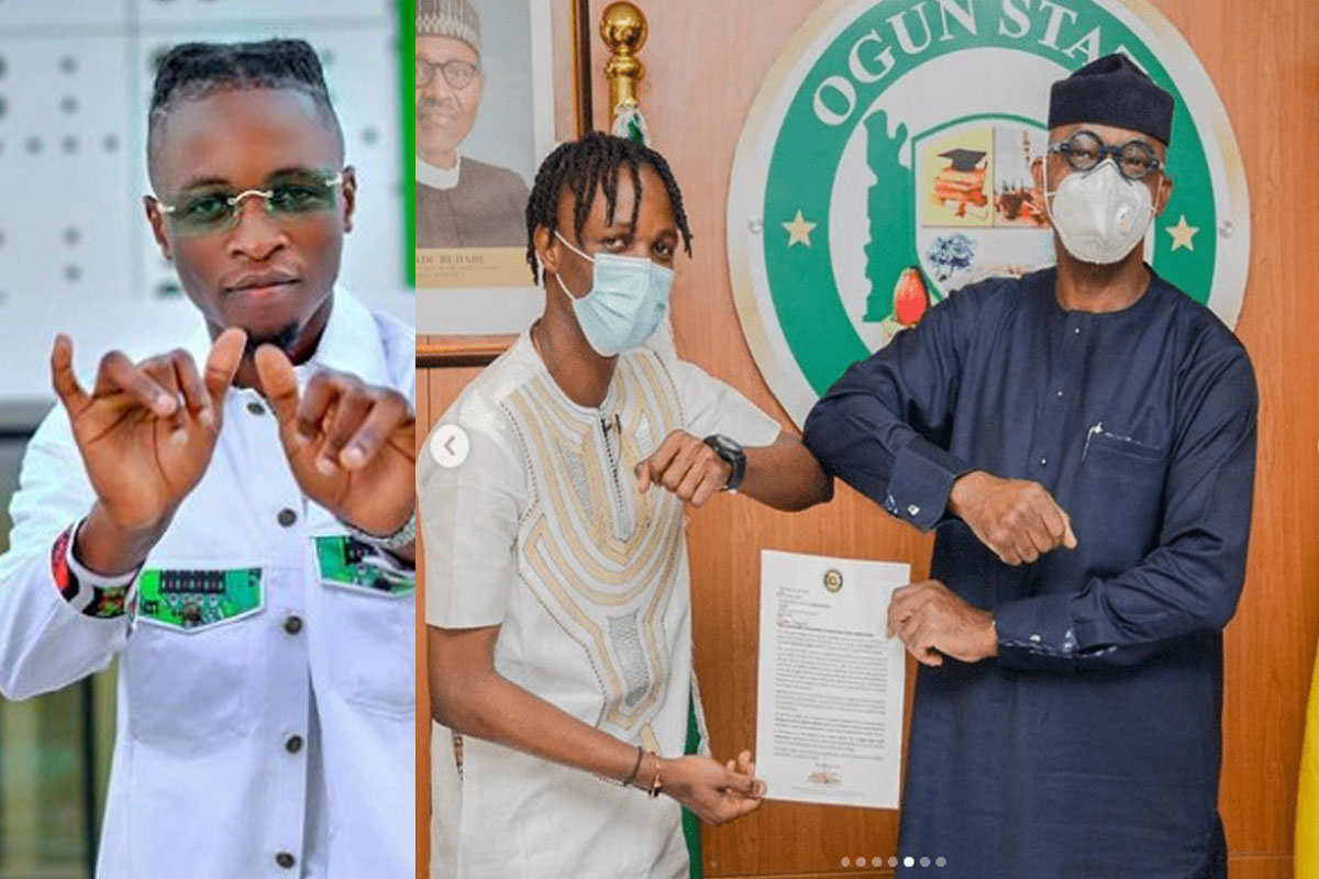 Laycon Appointed As Youth Ambassador For Ogun State, Receives ₦5million And  A 3-Bedroom House Gift