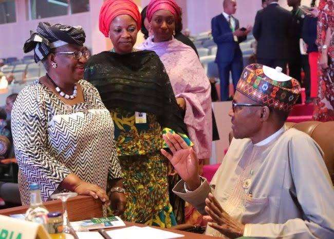 Ngozi Okonjo-Iweala Visits Buhari In Aso Rock