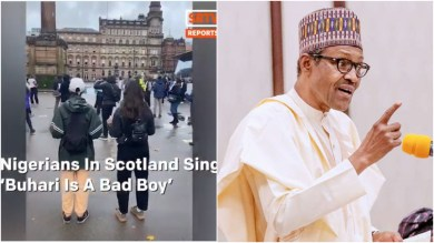 """Buhari Is A Bad Boy""- Nigerians In Scotland Sing"