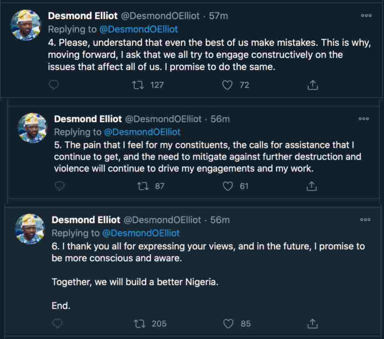 """Desmond Elliot, """"I Didn't Mean To Be Insensitive, Even The Best Of Us Make Mistakes"""" – Desmond Elliot Apologizes To Nigerians"""