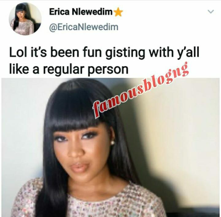 Here is what Erica told Fans after chatting with them for HOURS