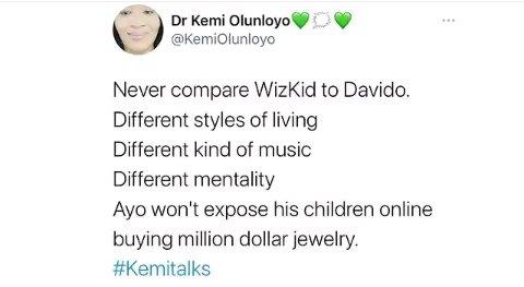"""Wizkid Won't Expose His Children Online By Buying Million Dollar Jewelry""- Kemi Olunloyo Hits Hard At Davido"