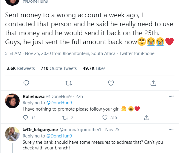 Lady Surprised And Excited As Man Refunds Money She Mistakenly Sent To His Bank Account