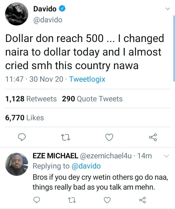 See Reactions After Davido Shed Tears On Twitter