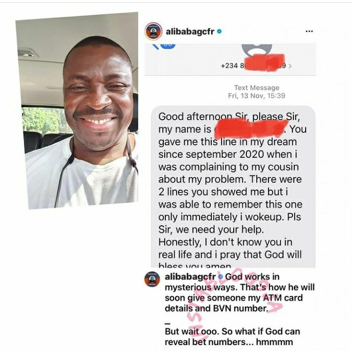 God Works In Mysterious Ways – Comedian Alibaba Shocked Over How A Beggar Got His Number In His Dreams