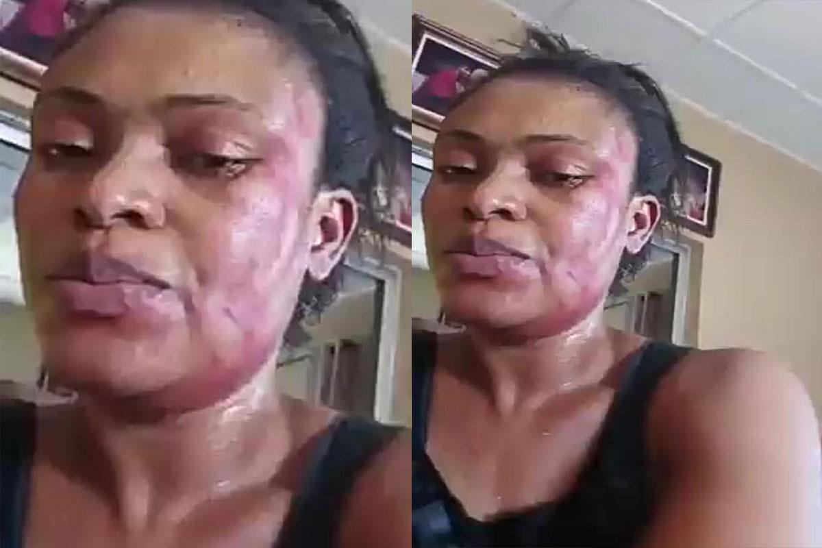 Video wife beating husband Scorned wife