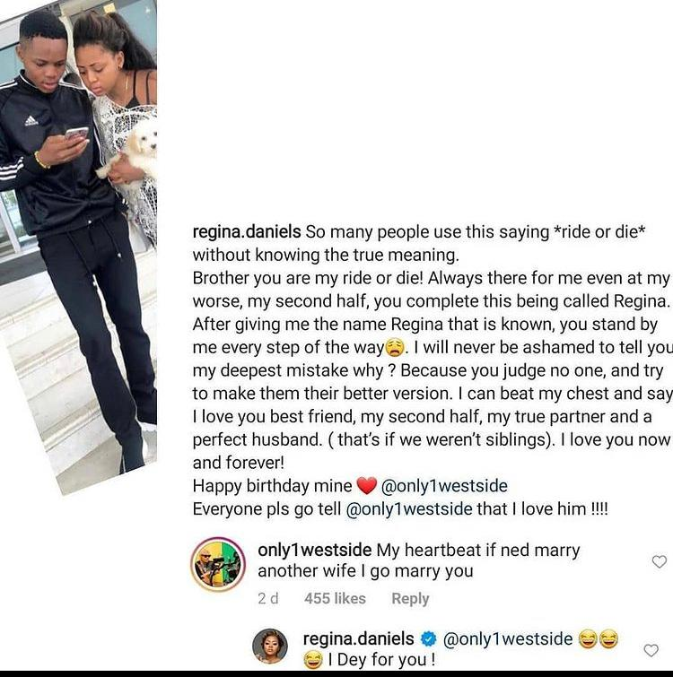 Regina Daniel's Brother Ready To Commit A Taboo For Her Sister