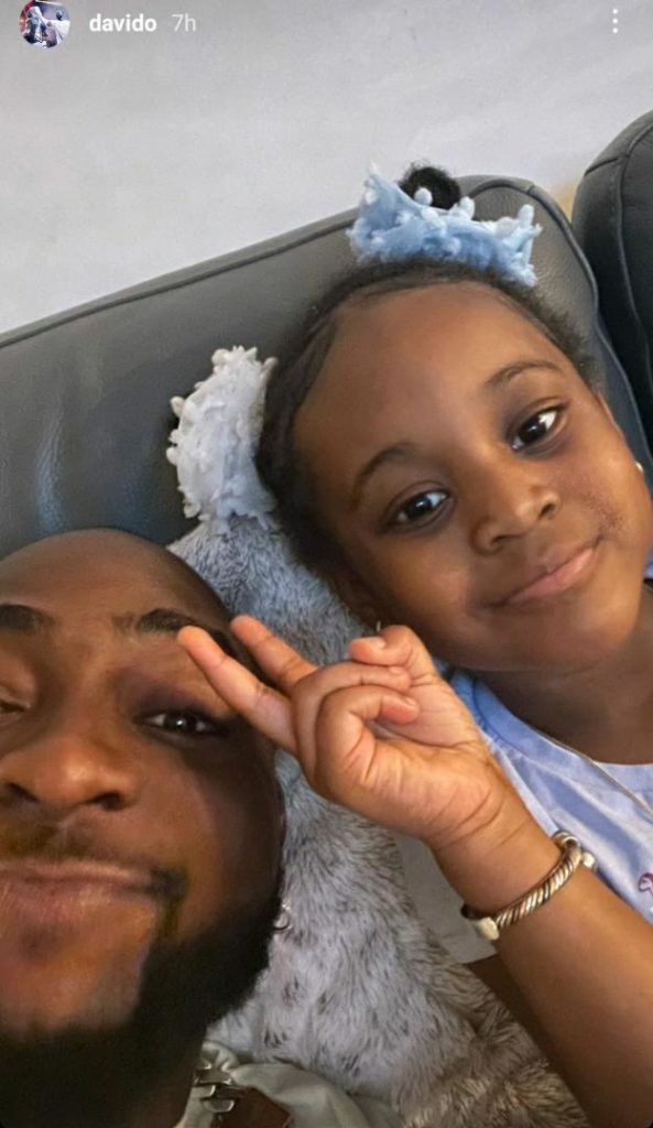 Davido And Daughter Hailey Having Some Lovely Father And Daughter Moment In Atlanta