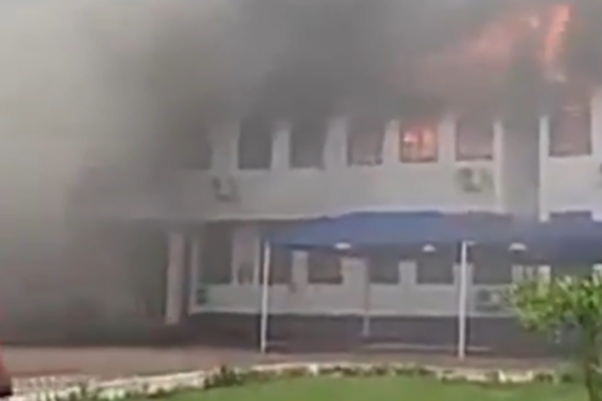 JUST IN: Fire Outbreak At Mampong Technical College Of Education