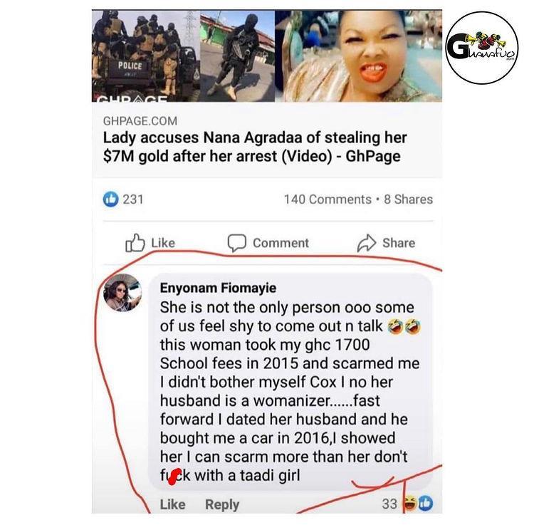 Nana Agradaa scam