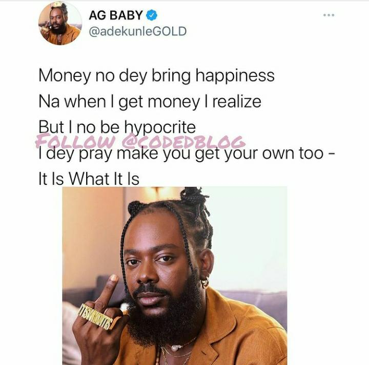 Money Doesn't Bring Happiness – Adekunle Gold 2
