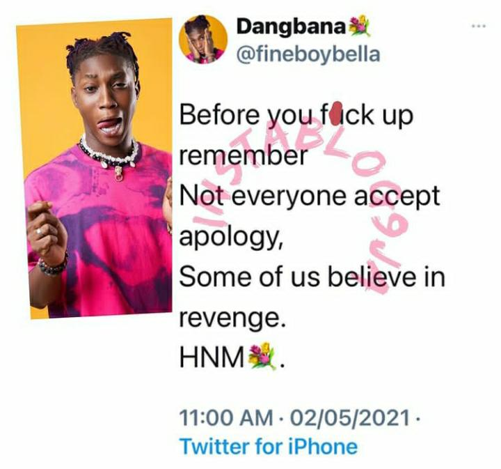 I Don't Accept Apology, I Believe In Revenge