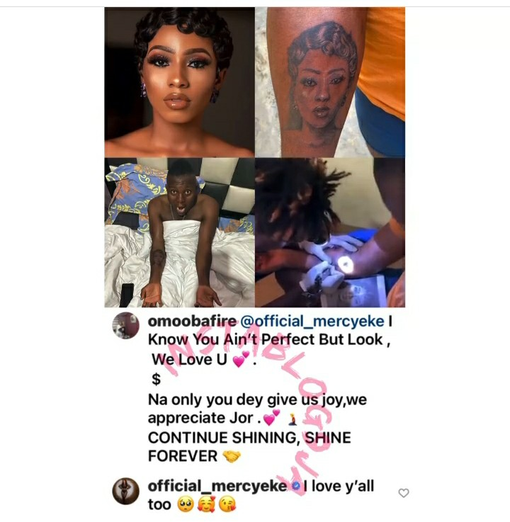 Mercy Eke Reacts To Viral Video Of Man Who Tattooed Her Face On His Arm