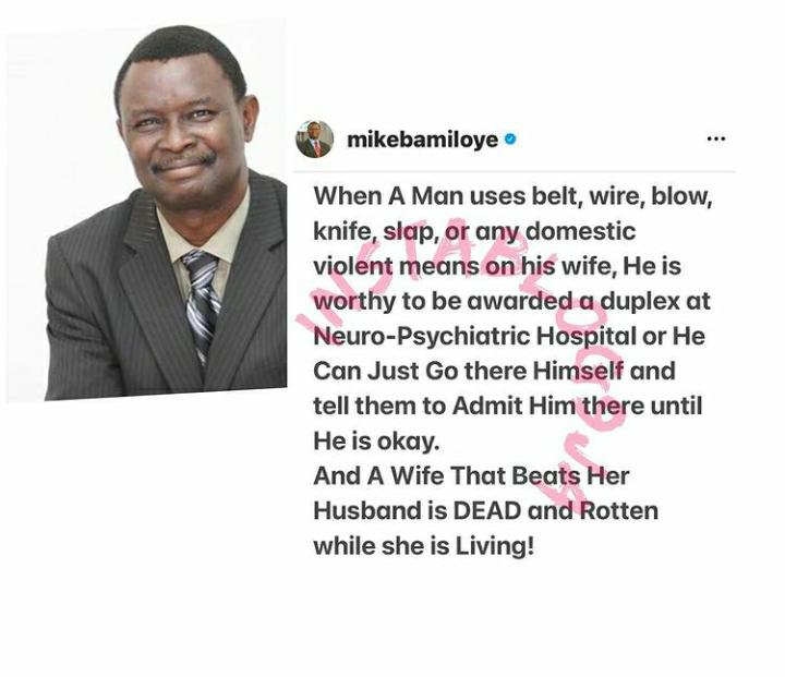 Any Man Who Beats His Wife Is Worthy Of Being In A Psychiatric Hospital
