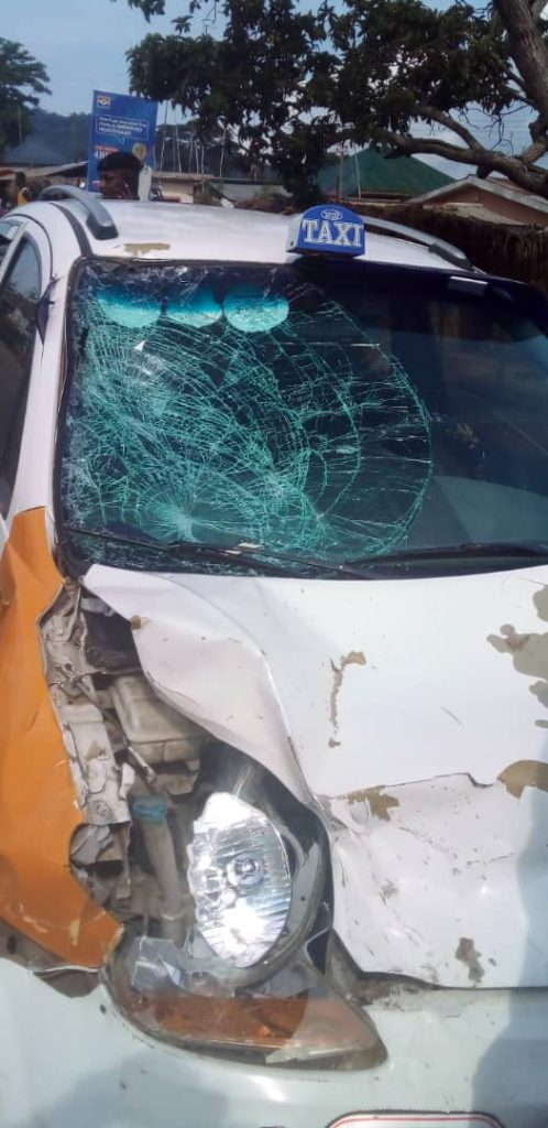 Okada Rider Rushed To The Hospital After Colliding With A Taxi