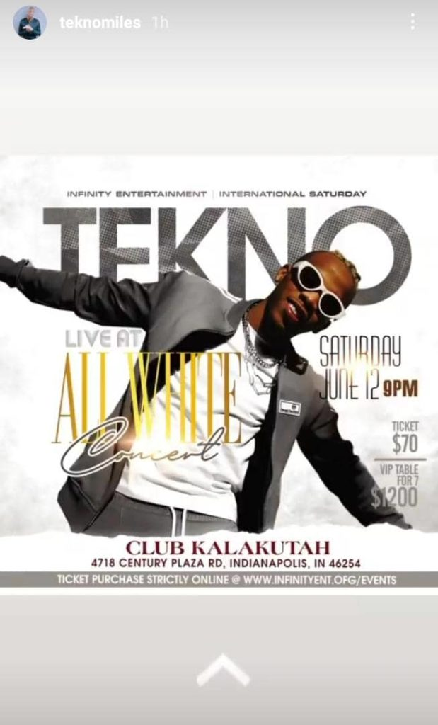 Tekno All Set For His All White Party