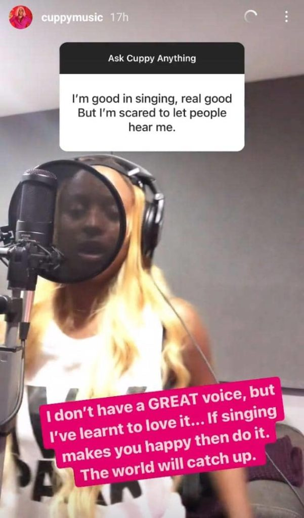 DJ Cuppy Finally Accepts She Doesn't Have A Great Voice