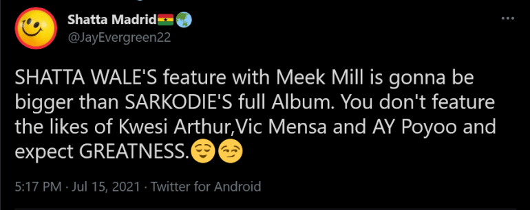 You Don't Feature Kwesi Arthur, Vic Mensa & AY Poyoo And Expect Greatness- SM Fan Jabs King Sark